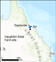 Haughton Solar Farm Location (source: pacifichydro.com.au)