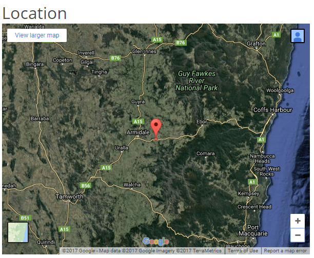 Metz Solar Farm Armidale Location