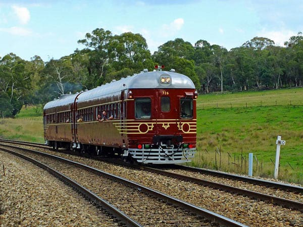The Byron Bay Solar Train in action