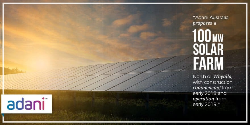 Whyalla Solar Farm Adani