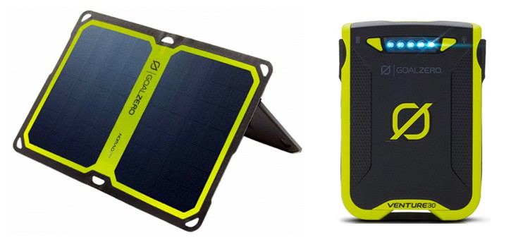 Solar Camping – Goal Zero Nomad 7 Plus Panel and GoalZero Solar Battery (source: kathmandu.com.au)