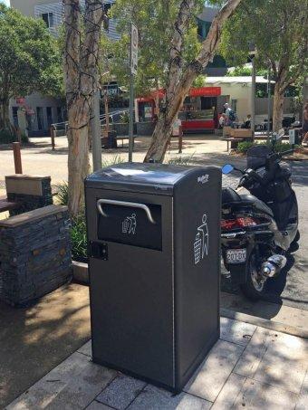 Solar Bins Australia - BigBelly Solar Bin in Hastings Street, Noosa