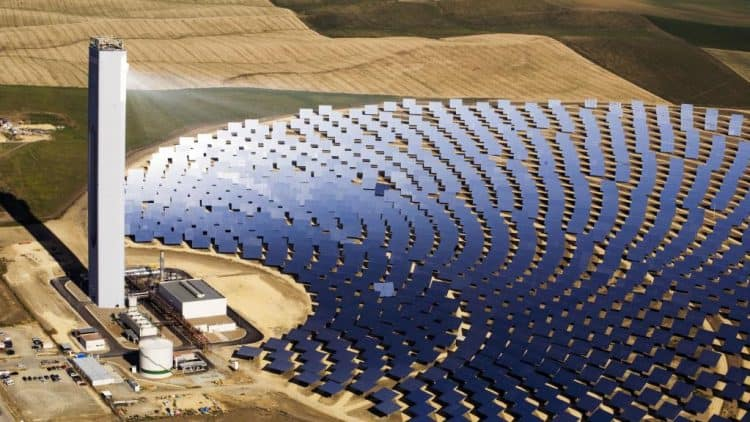 The Aurora solar thermal plant will look like this one in Spain (source: AdelaideNow.com.au)