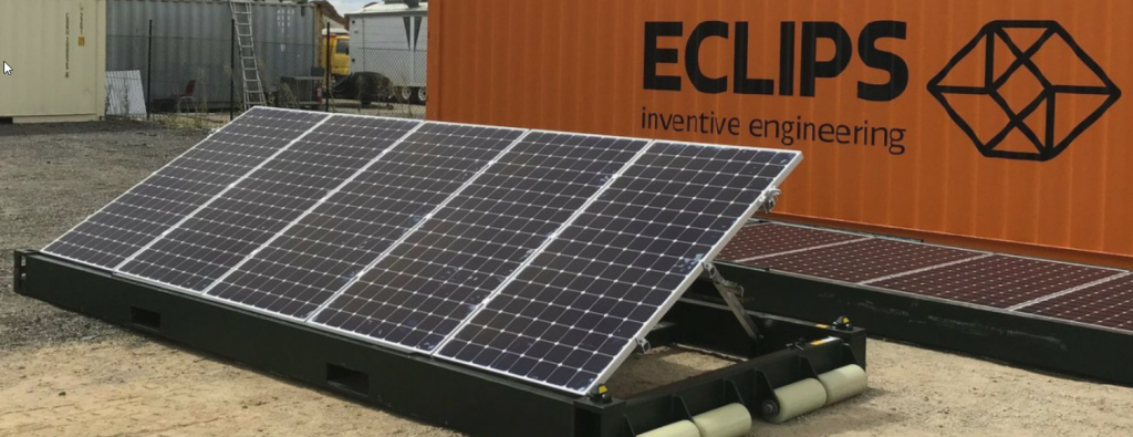 Container Roll Out Solar System Portable Solar Saving