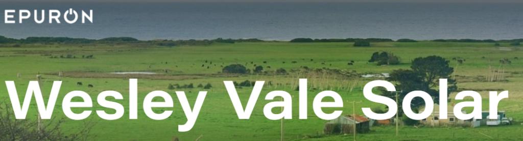 Wesley Vale Solar Farm