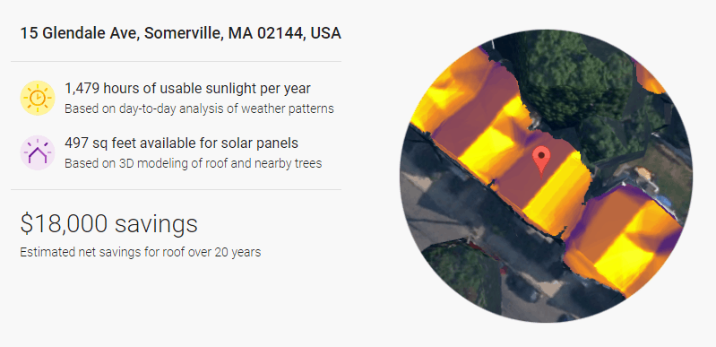 Google Sunroof solar mapping tool