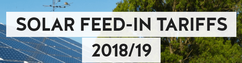 NSW Solar feed-in tariff 2018