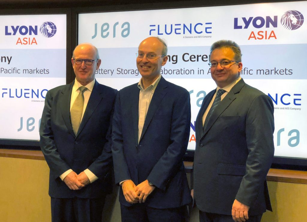 Lyon Group, JERA, Fluence CEOs to announce partnership.