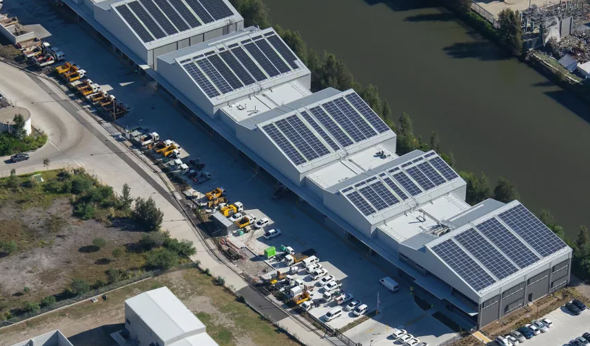 Alexandra Canal transport depot  solar