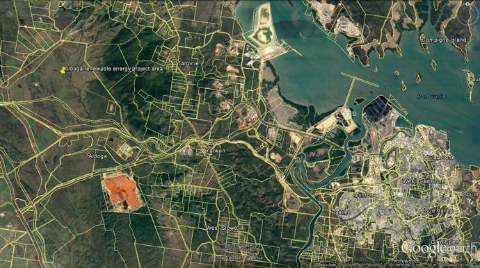Aldoga Solar Farm Gladstone Aerial Shot