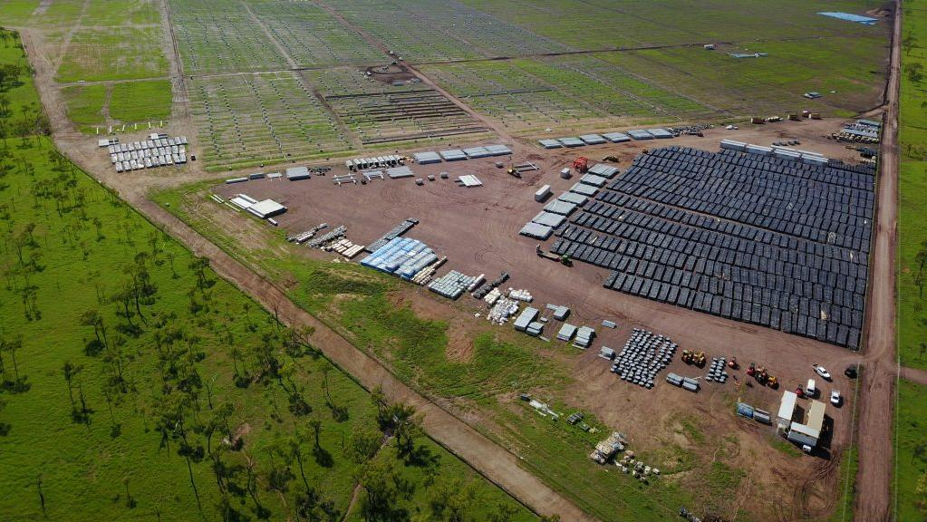 RCR Tomlinison Daydream solar farm in Collinsville, Queensland.