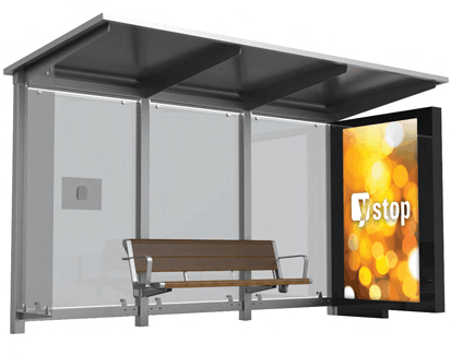 ClearVue and yStop - Solar Bus Shelters