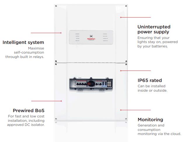 Redback Smart Hybrid System Inverter SH5000