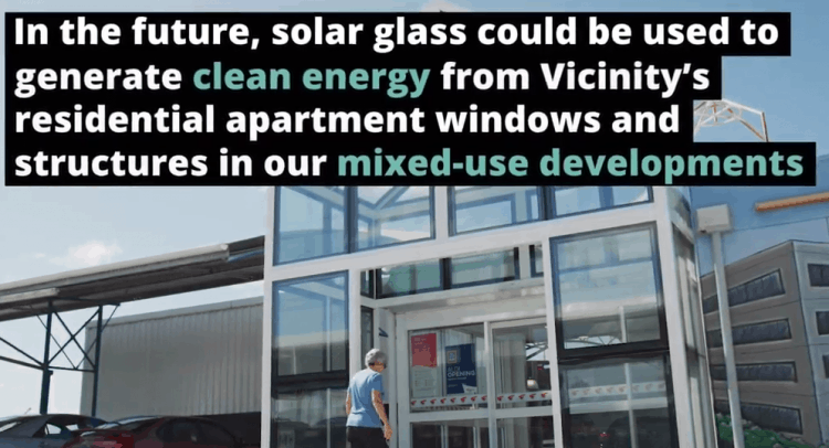 Solar Glass - Vicinity and ClearVue Technologies (source: clearvuepv.com)