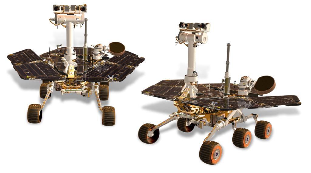 Solar in Space - Mars Rover (source: nasa.gov)