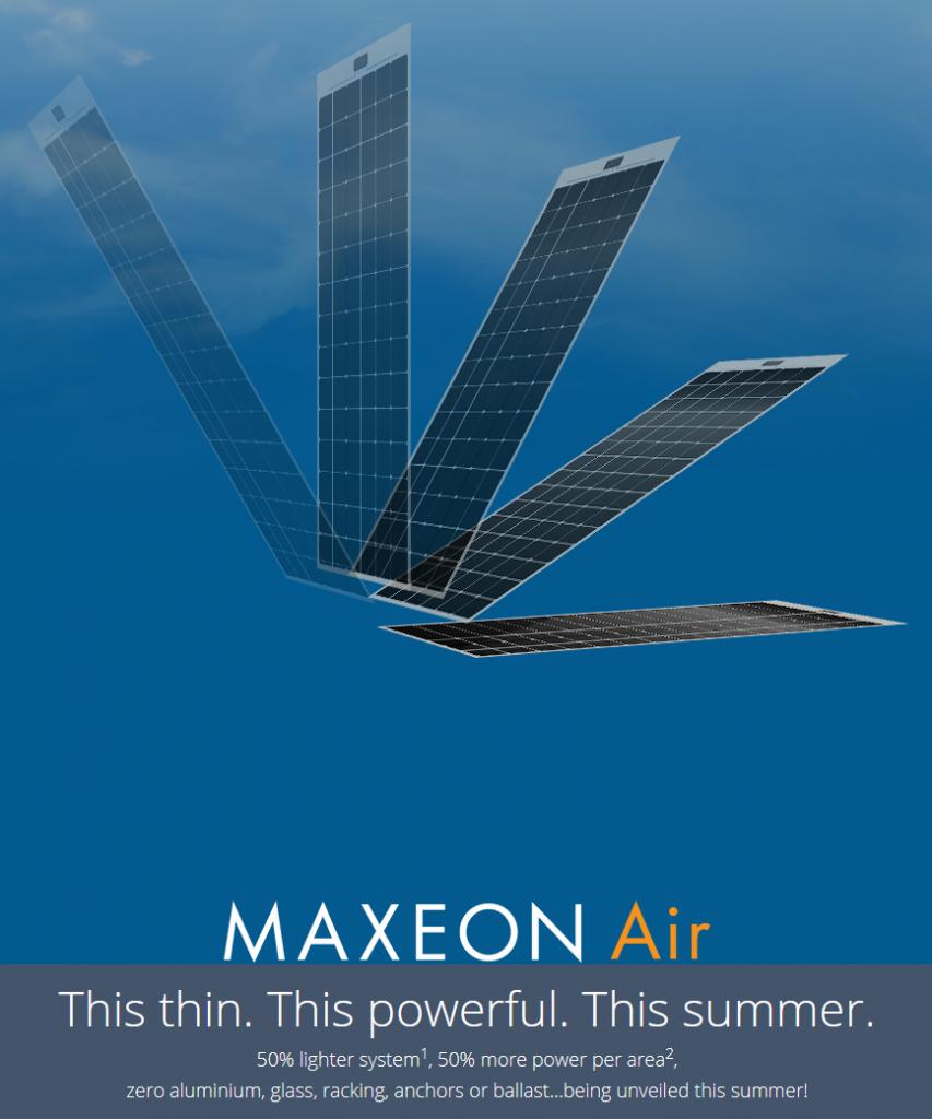 Maxeon Air Frameless Solar Panel